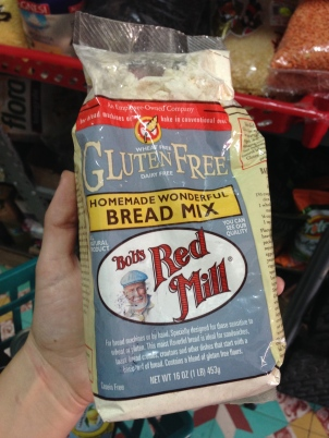 Bob's red Mill Gluten free cookie-dough mix.