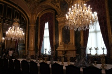 Inside Versailles dining hall