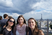 On top of the Arc du Triomphe - 284 stairs later